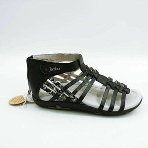 Jambu Womens Bonsai Gladiator Sandals Black 7 New